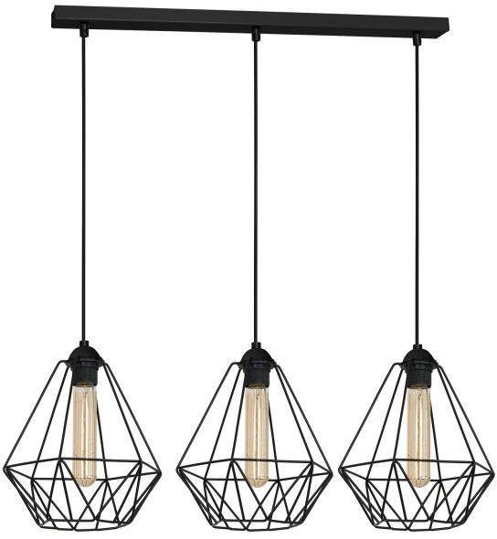Lampa wisząca Luminex Basket New 3 x 60 W E27 black