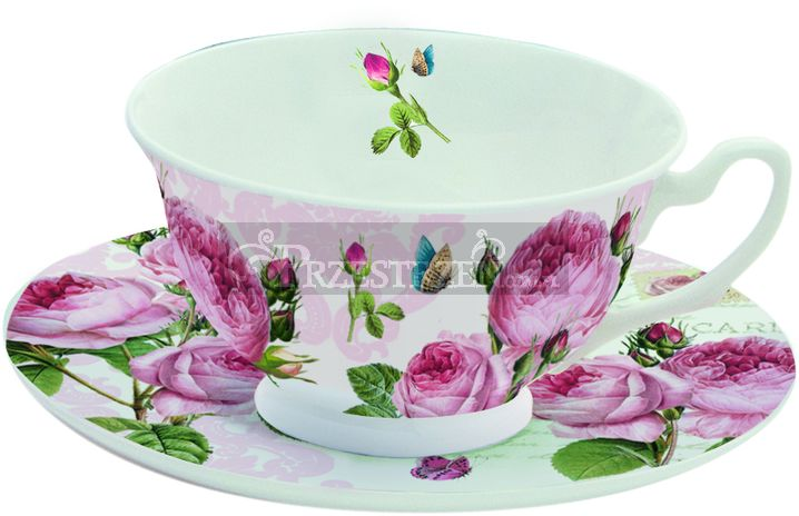 PORCELANOWA FILIŻANKA DO HERBATY - Romantic Roses - Róże (322 RMR)