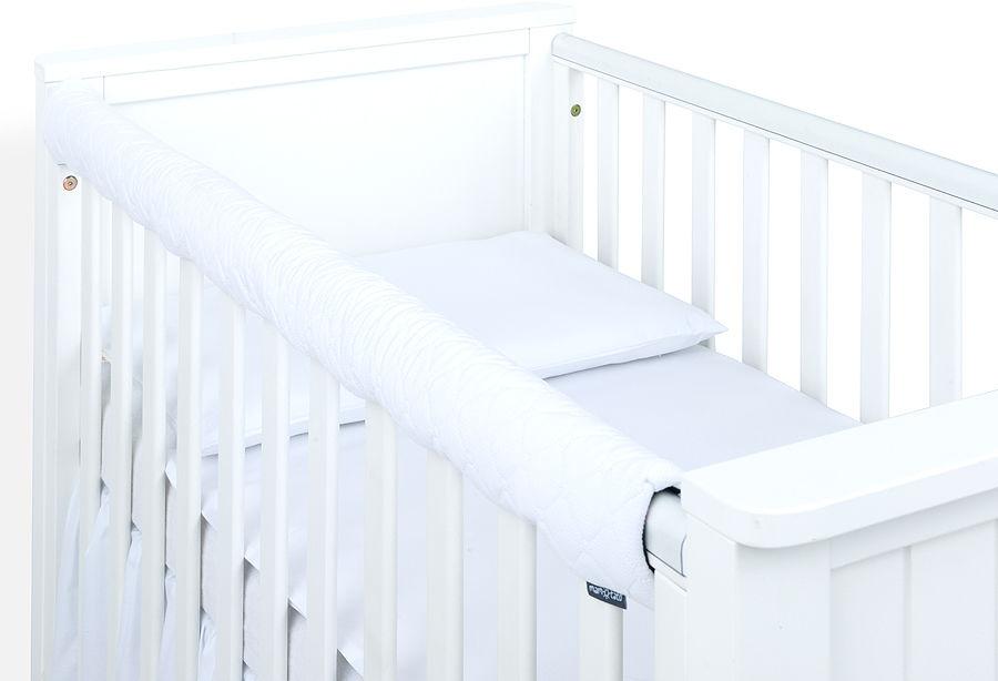MAMO-TATO Ochraniacz na górną krawędź łóżeczka - Velvet Biały