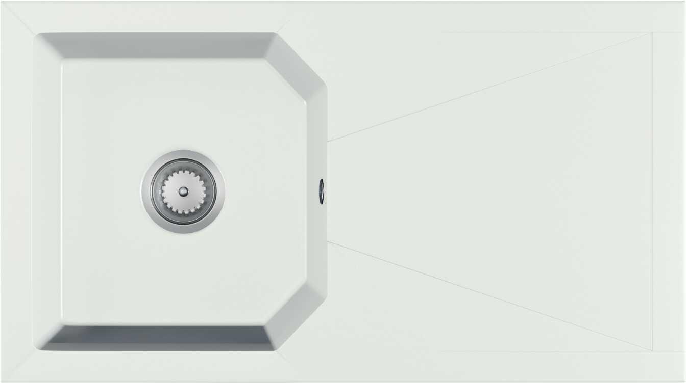 Zlewozmywak granitowy CARINO biały