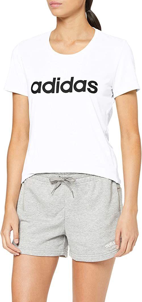 adidas Damski T-shirt W D2m Lo Tee biały biały i czarny 20