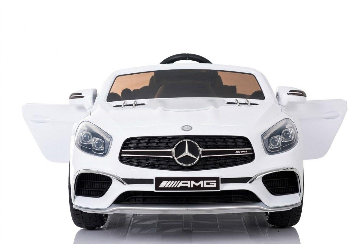 Duży samochód dla dziecka mercedes sl65 amg biały + pilot