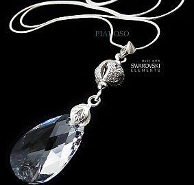 Piękny Naszyjnik Swarovski Crystal Fantasia Srebro
