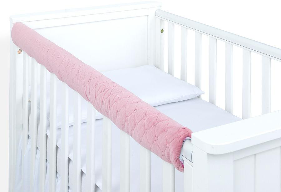 MAMO-TATO Ochraniacz na górną krawędź łóżeczka - Velvet Różany