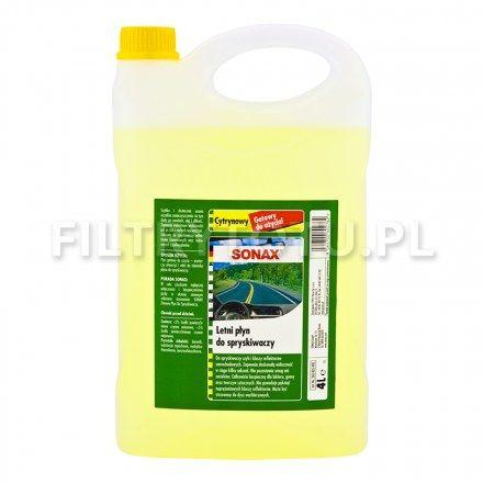 SONAX Letni płyn do spryskiwaczy cytrynowy 4l (260405)