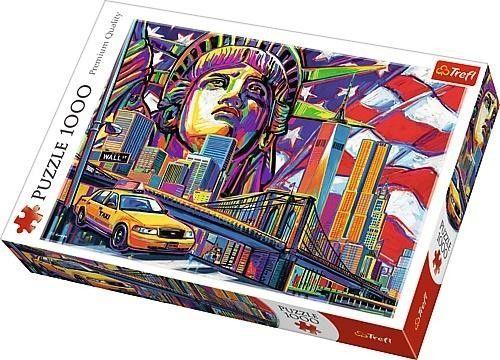 Puzzle TREFL 1000 - PQ - Kolory Nowego Jorku, Colours of New York