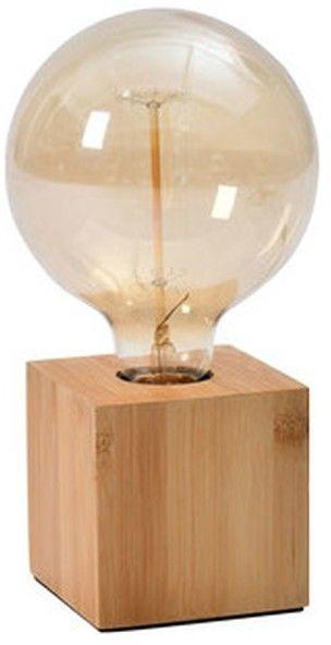 Lampa stołowa GoodHome Qausuit Bamb E27 kwadratowa