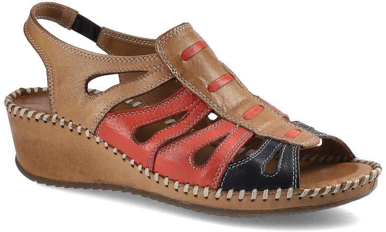 Sandały LANQIER 38C750 Brown/Blue/Red