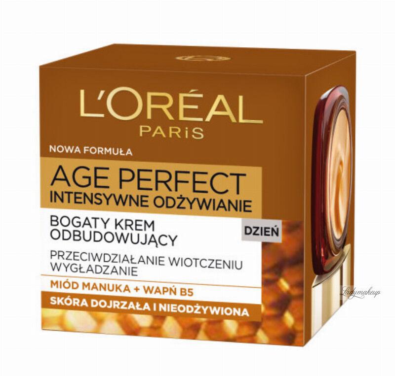 L''Oréal - AGE PERFECT DAY CREAM 60+ Bogaty krem na dzień odbudowujący do skóry dojrzałej i nieodżywionej - 50 ml