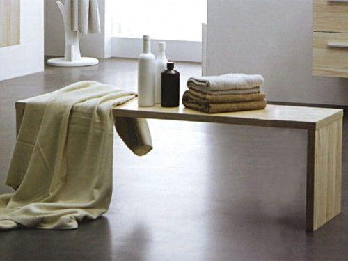 Ławka łazienkowa 1200x350x450 mm KANSAS, Made in Italy