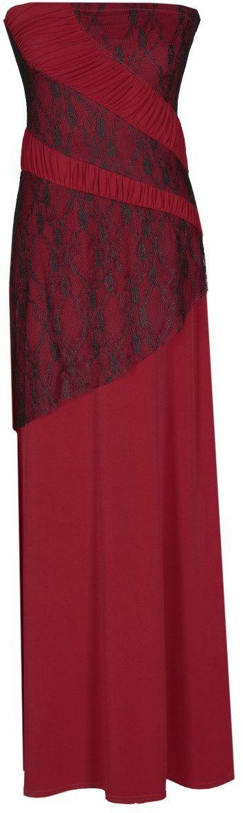 Sukienka FSU142 BORDOWY