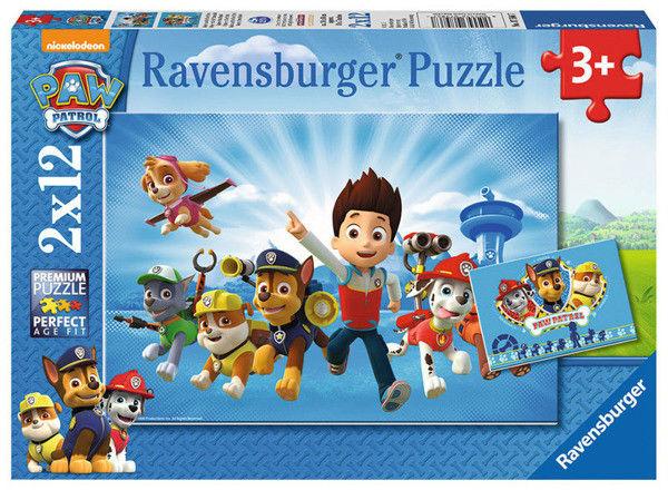Puzzle Ravensburger 2 x 12 - Psi Patrol i Rydel, PAW Patrol and Rydel