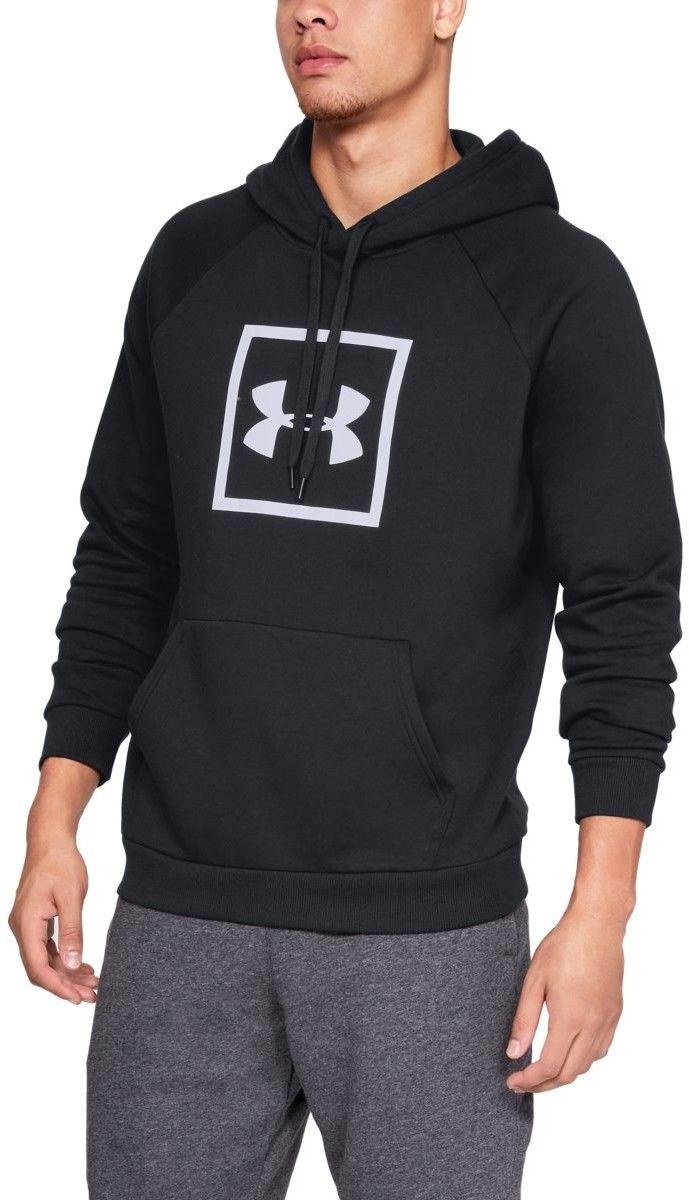 Under Armour Bluza Rival Fleece logo Hoodie Black XL