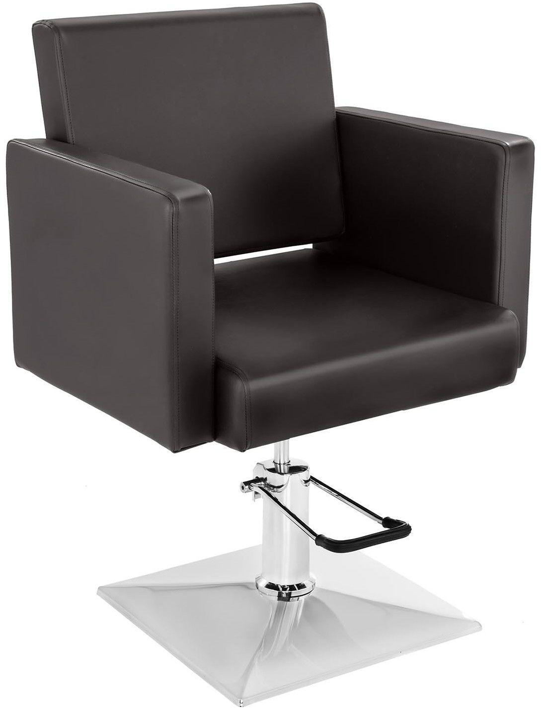 Komplet Fotel fryzjerski Physa Bedford brązowy + Podnóżek ze stali nierdzewnej - przykręcany - BEDFORD BROWN SET