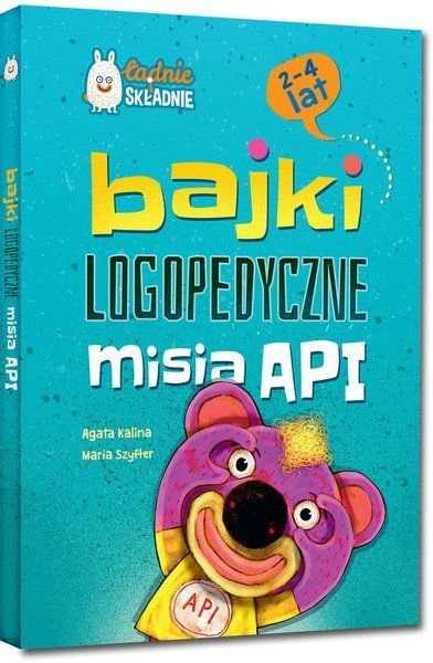 Bajki logopedyczne misia API (2-4 lata) twarda oprawa