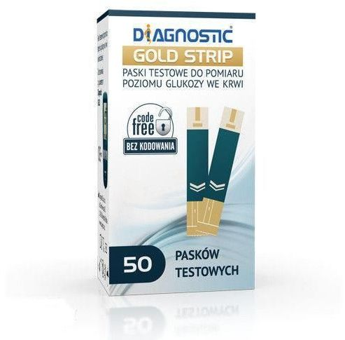 Diagnostic Gold Strip - Paski testowe do pomiaru glukozy we krwi - 50 szt.
