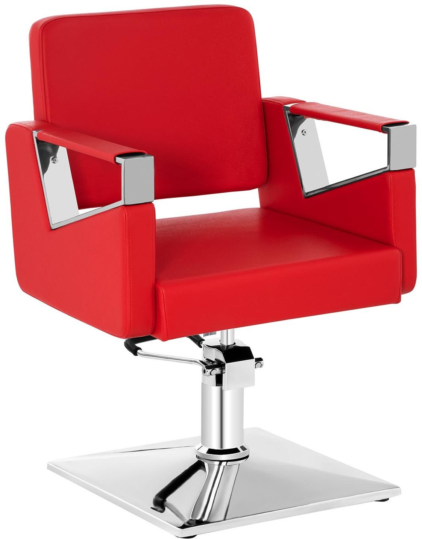 Komplet Fotel fryzjerski Physa Bristol czerwony + Podnóżek ze stali nierdzewnej - przykręcany - BRISTOL RED SET