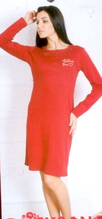 Koszula damska z długim rękawem 544 rozmiar S rozpinana bordowa