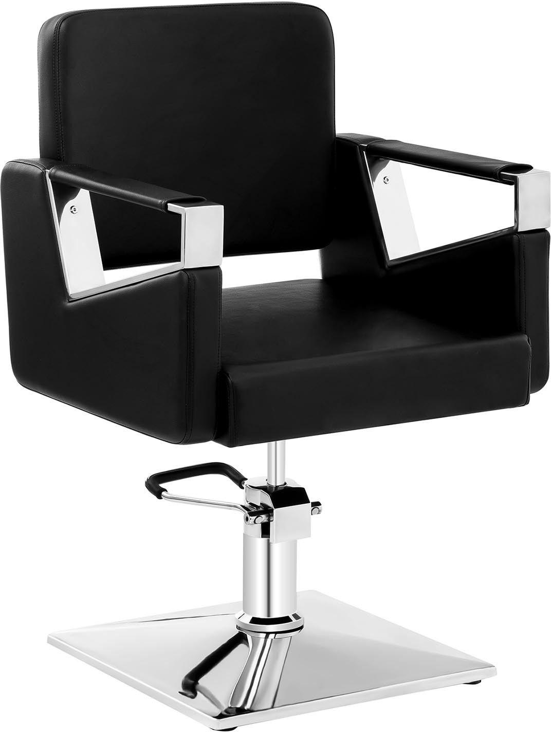 Komplet Fotel fryzjerski Physa Bristol czarny + Podnóżek ze stali nierdzewnej - przykręcany - BRISTOL BLACK SET