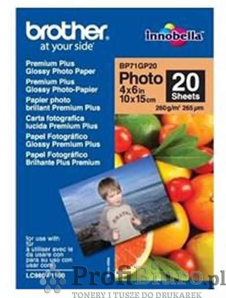 Papier Brother BP71GP20 Glossy Photo - 260 g/m2 - 10x15cm - 20 szt.