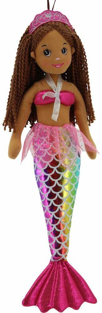 Sweety Toys 11919 lalka z materiału syrenka pluszowe zwierzątko księżniczka 45 cm kolory tęczy