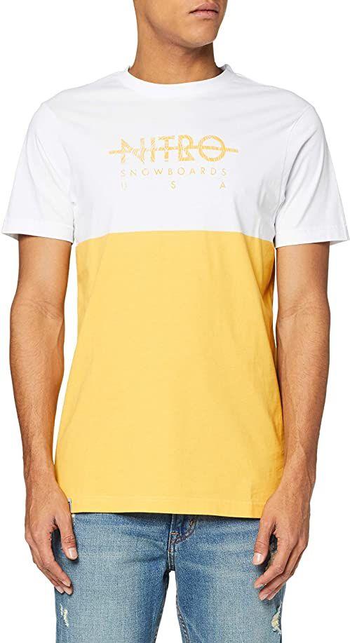 Nitro Unisex T-shirt Block Tee''20 wielokolorowa Mellow Yellow X-L