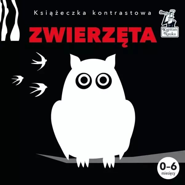 Kapitan Nauka Książeczka kontrastowa. Zwierzęta - Pola Augustynowicz