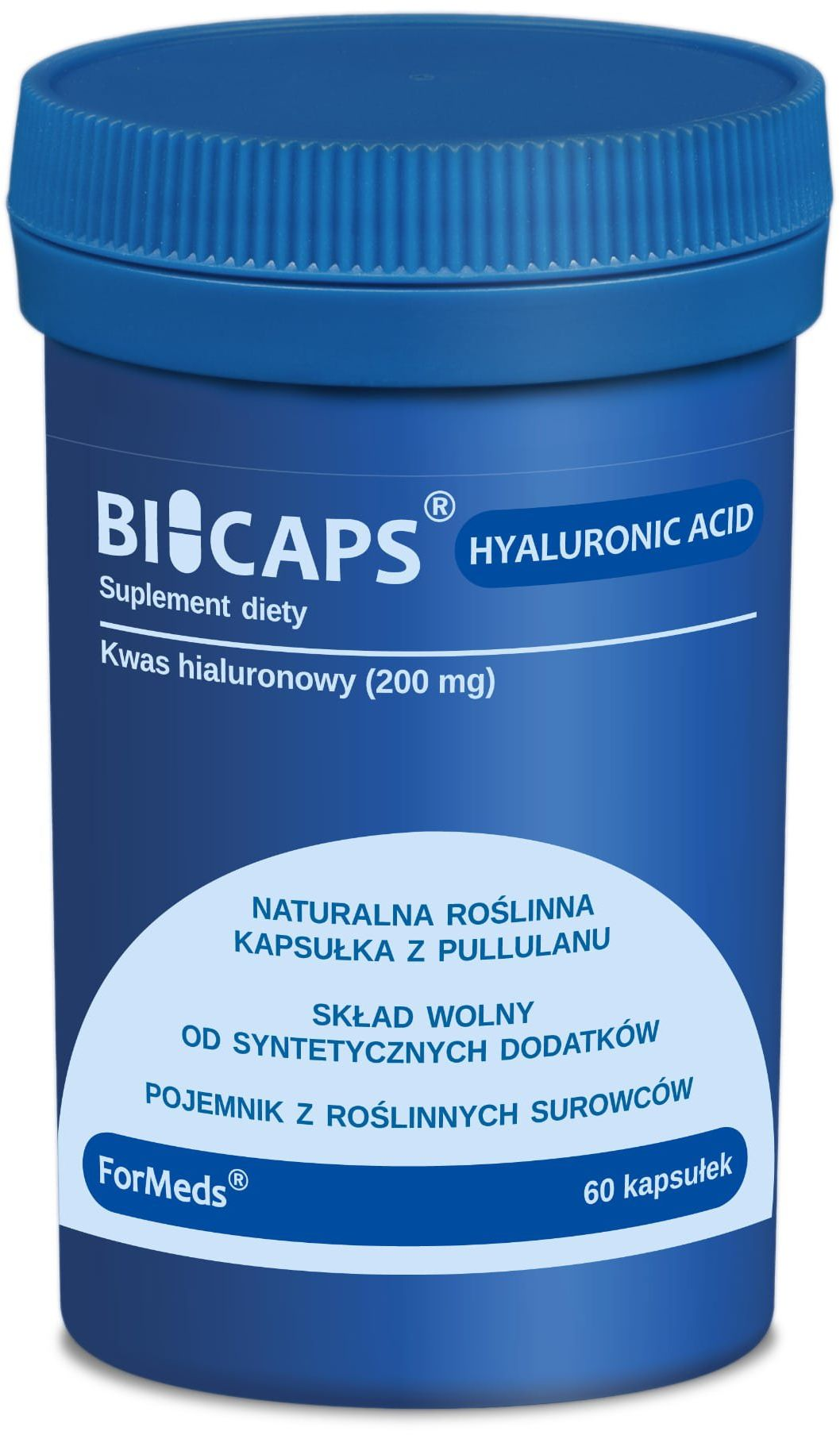 BICAPS Hyaluronic Acid Kwas Hialuronowy 200 mg (60 kaps) ForMeds