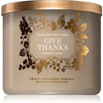 Bath & Body Works Sweet Cinnamon Pumpkin świeczka zapachowa I. (Give Thanks) 411 g
