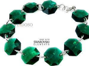 Hit Bransoletka Swarovski Emerald Certyfikat