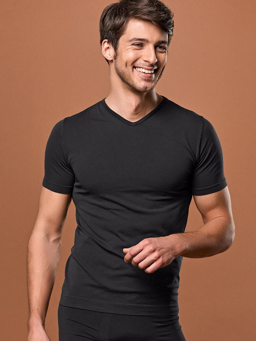 T-shirt męski Scollo (dekolt V/serek) termoaktywny, 5 kolorów