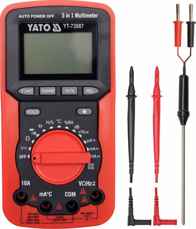 Multimetr/miernik cyfrowy, 5 w 1 Yato YT-73087 - ZYSKAJ RABAT 30 ZŁ