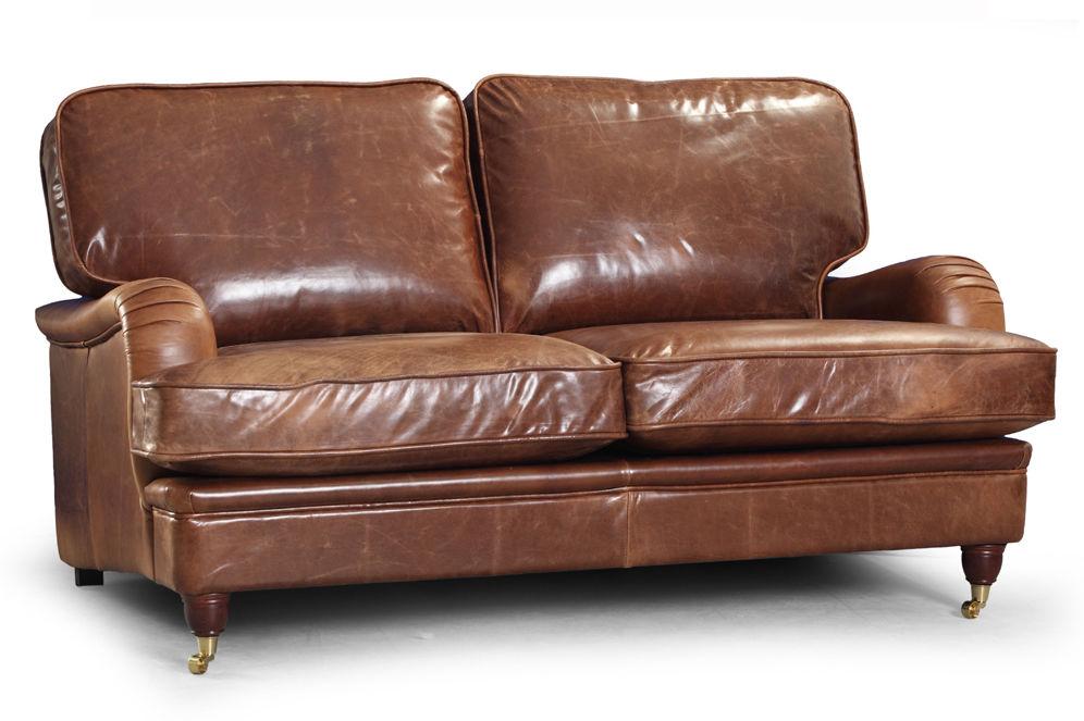 Sofa Don Royal 2os., tapicerowana, skóra, eko-skóra, tkanina