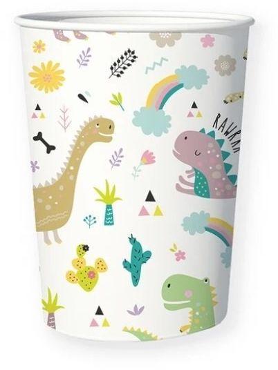 Kubeczki papierowe Dinozaury Dino Party 200ml 6 sztuk 510812