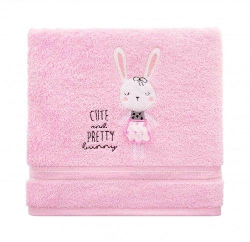 Ręcznik kąpielowy dziecięcy gruby 70x140 Króliczek Spod Igły i Nitki