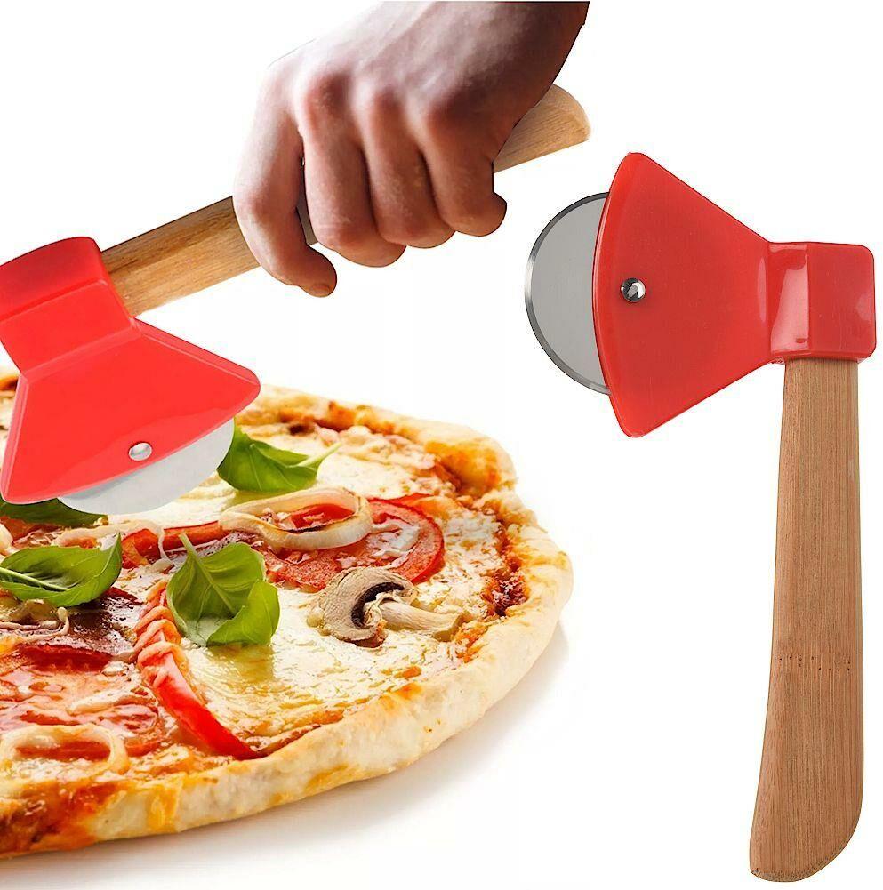 Nóż okrągły, radełko do krojenia pizzy, stalowy, krajalnica, krajacz, siekiera