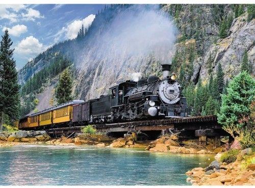 Puzzle TREFL 500 - Górski pociąg, Mountain train