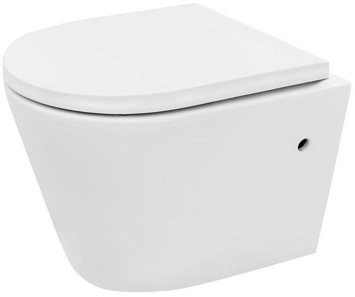 Miska WC podwieszana bezrantowa z deską Tomas Rimless Rea (REA-C1257)