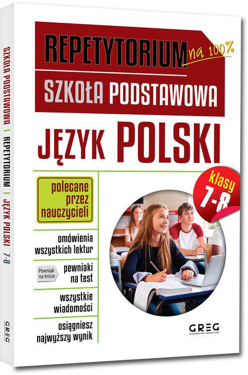 Repetytorium Język polski klasy 7-8 ZAKŁADKA DO KSIĄŻEK GRATIS DO KAŻDEGO ZAMÓWIENIA