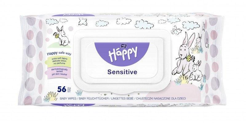 Bella Happy chusteczki sensitive premium, 56 szt.