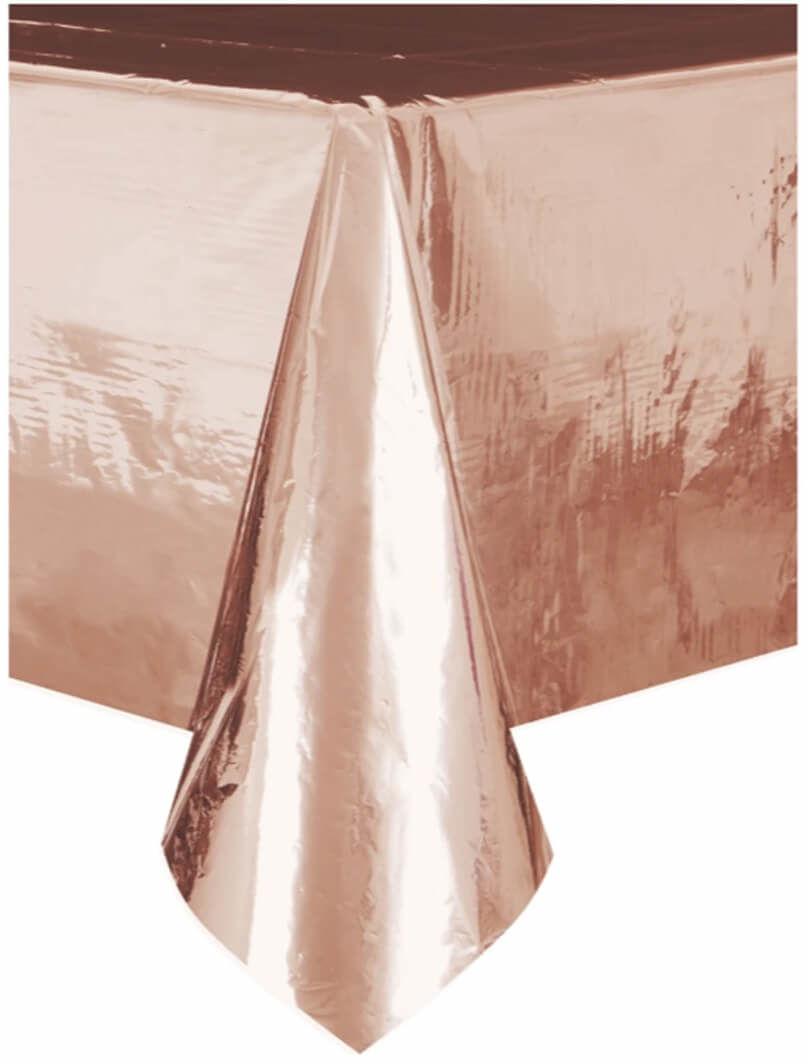 Obrus metaliczny różowe złoto - 137 x 274 cm - 1 szt.