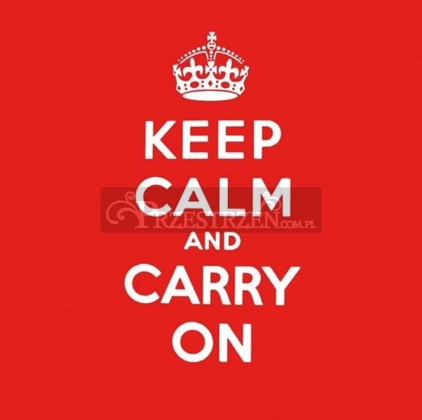 SERWETKI PAPIEROWE - Keep Calm and Carry On - 25x25 cm