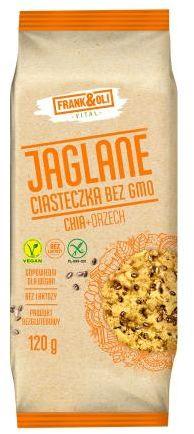 Ciastka jaglane z orzechami i chia bezglutenowe 120 g Frank&Oli