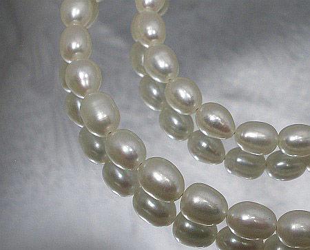 Prawdziwe Perły Białe Piękny Naszyjnik Srebro