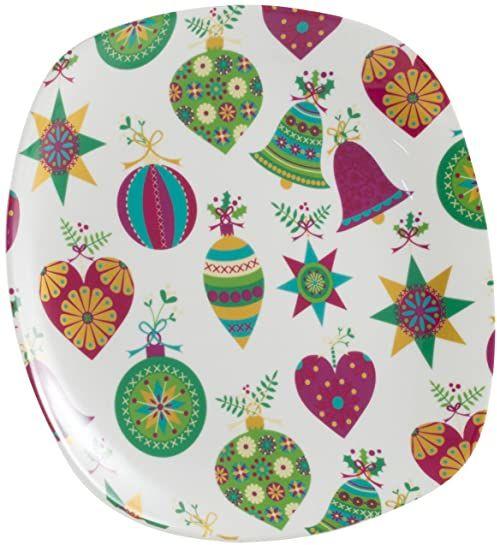La Cija Bolas de Navidad  kwadratowa forma do pieczenia 20 cm porcelana, biała.