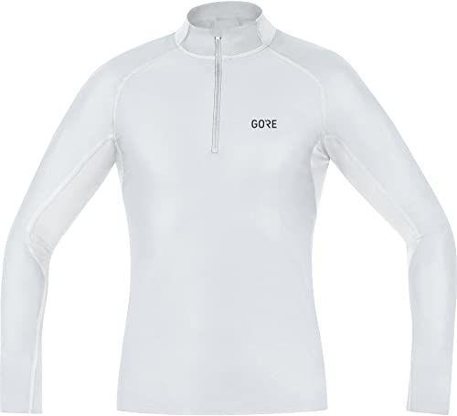 Gore Wear wiatroszczelna męska koszulka ze stójką, Gore M Windstopper Base Layer Thermo Turtleneck, 100325 szary jasnoszary/biały M