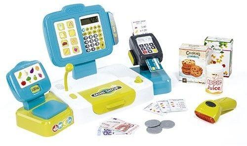 Smoby - Elektroniczna kasa dotykowa z wagą i czytnikiem kart 350105