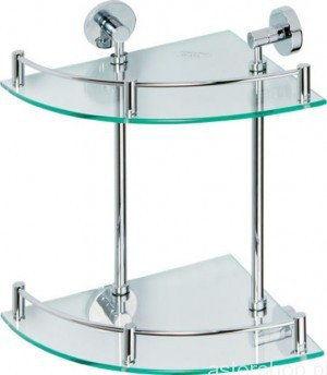 OMEGA Półka szklana narożna podwójna 25x25 cm 104202142