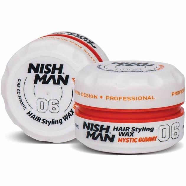 Nishman Styling Wax 06 Gumy pomada do włosów, średnie utrwalenie 150ml