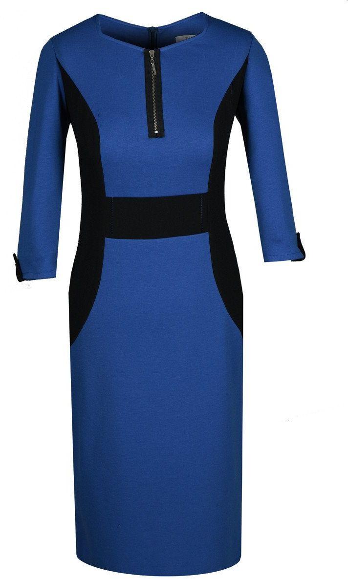 Sukienka FSU293 CHABROWY CZARNY
